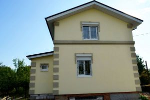 фото - утепление фасада Днепр, вид утепленного дома частного