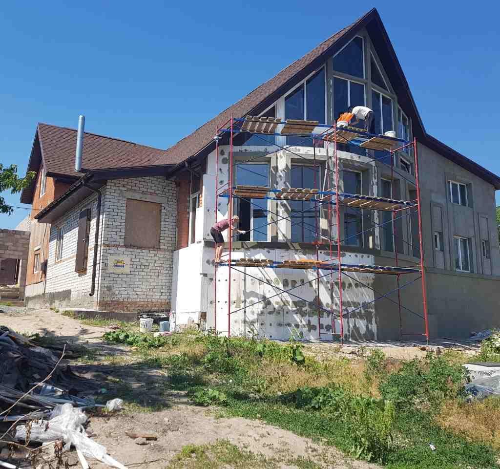 утепление дома неа лесах фото эко фасад днепропетровск