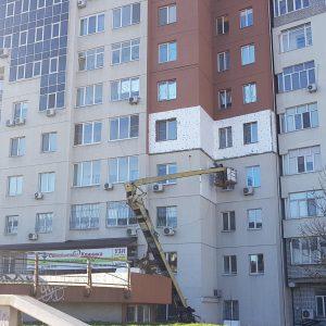 отделка наружных стен пенопластом внешний вид Днепр Эко фасад
