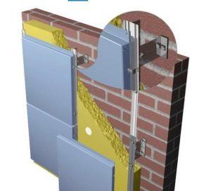 как выглядит монтаж вентилируемого фасада фото 2